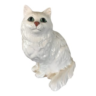 Beswick England White Persian Cat For Sale