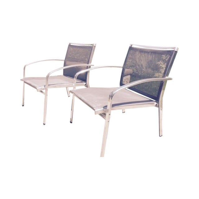 Indecasa Lucca Armed Lounge Chairs - Set of 4 For Sale
