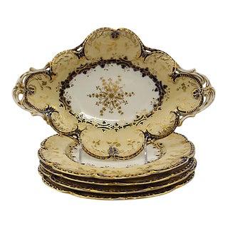 Antique Gilded Victorian Serving Set, - 5 Pieces For Sale