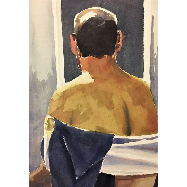Male Nude Watercolor Study - Image 2 of 4