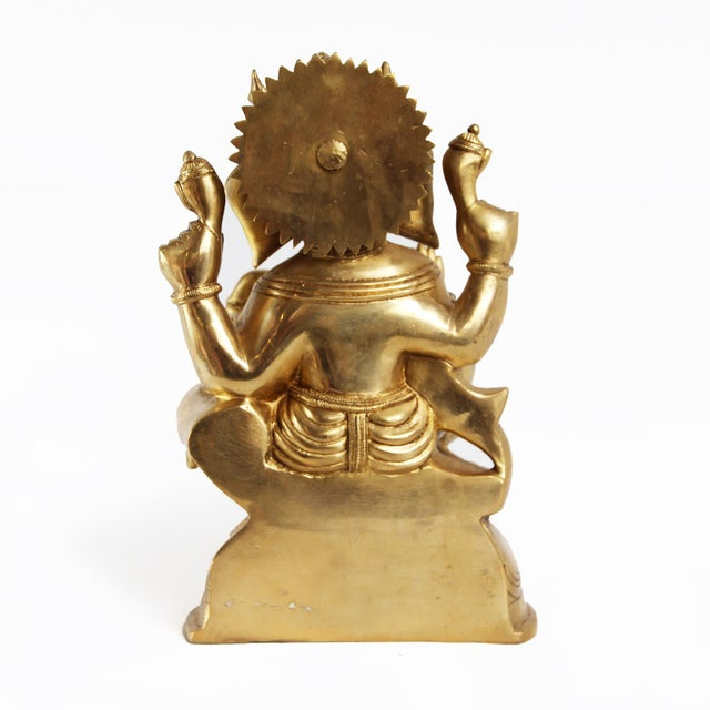 Beautiful solid bronze Ganesha statue. The lord of good fortune, prosperity and success. Ganesha is known to be the...