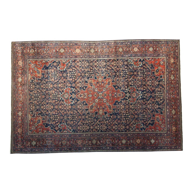 "Vintage Farahan Sarouk Rug - 4'3"" X 6'6"" For Sale"