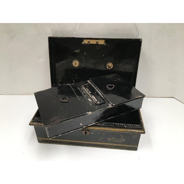 Early 1900s Antique English Metal Cash Box - Image 9 of 11