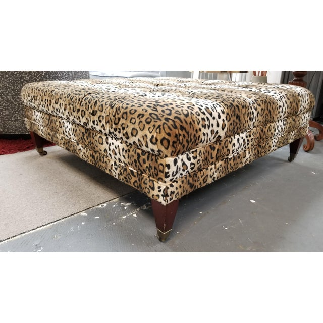 Expressionism Modern Leopard Print Ottoman For Sale - Image 3 of 5