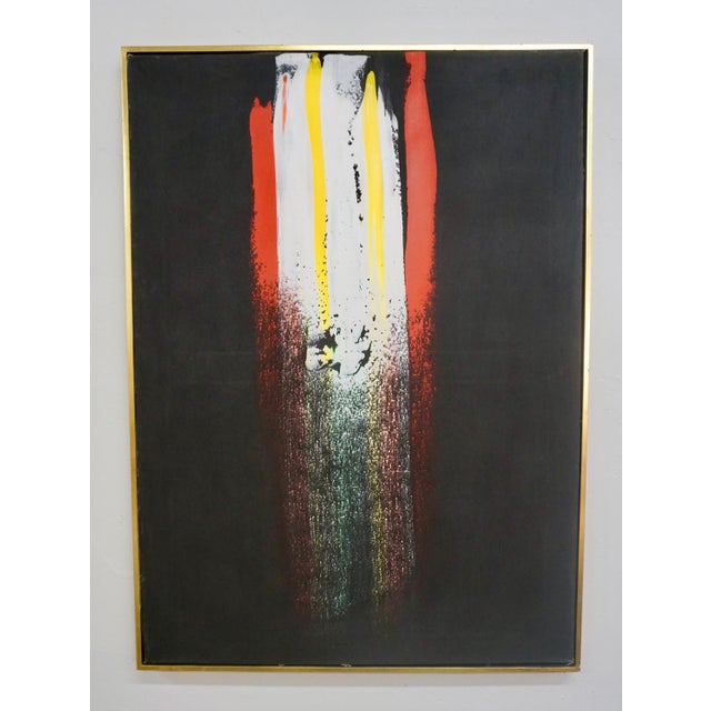1970s Abstract Painting by Julius Wasserstein For Sale - Image 5 of 6
