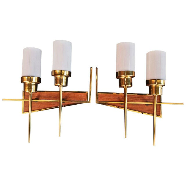 Mid-Century Modern French 1950s Sconces - A Pair For Sale - Image 3 of 3