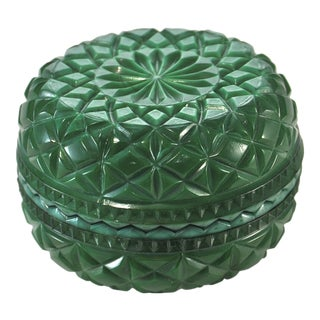 Malachite Glass Geometric Diamond Box