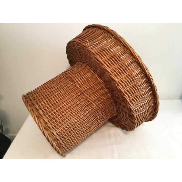 Basket With a Wooden Bottom For Sale - Image 11 of 12