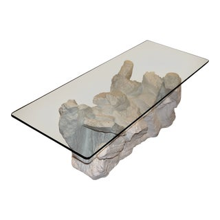 Sirmos Plaster Rock Quarry Coffee Table For Sale