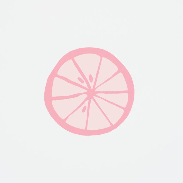 Contemporary Schumacher X Vera Neumann Lemonade Wallpaper in Grapefruit For Sale - Image 3 of 5