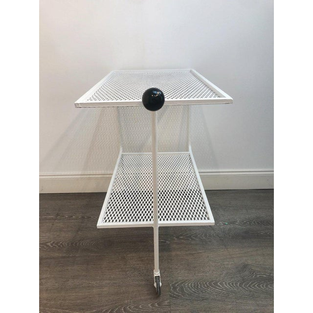 Modern Wrought Iron Bar Cart in the Attributed to Salterini For Sale In West Palm - Image 6 of 10