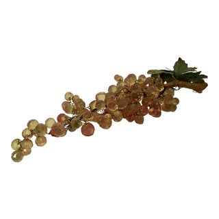 Vintage Faceted Lucite Grape Bunch For Sale