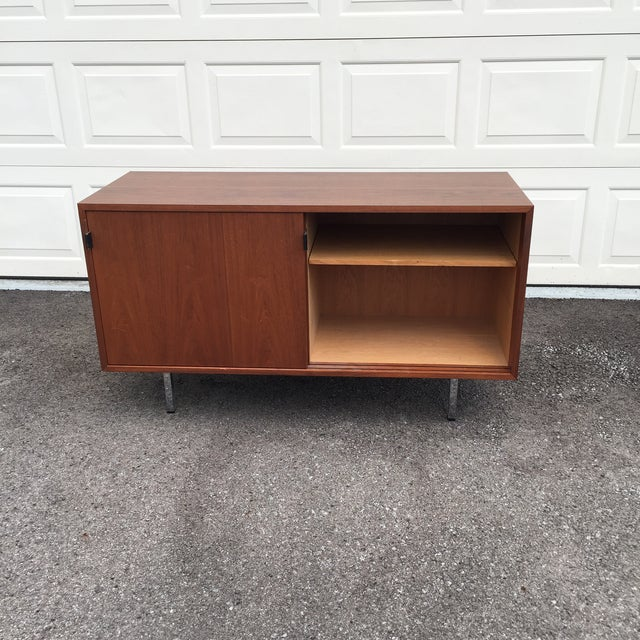 A handsome, basic, Florence Knoll credenza. The Knoll International sticker places it as being after 1968 and before the...