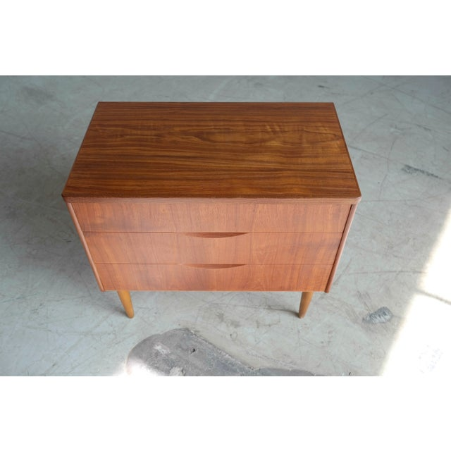 Mid-Century Danish Teak 3-Drawer Dresser - Image 4 of 5