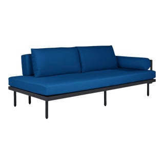 Avenue Sofa with Right Bolster in Pacific Blue For Sale