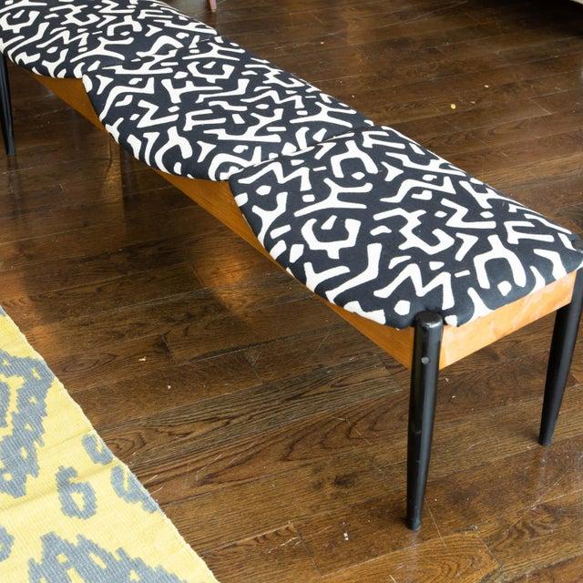 Fabric John Stuart Style Mid Century Three-Seat Bench For Sale - Image 7 of 9