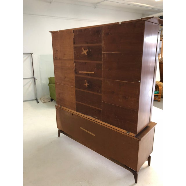 Mid Century Modern Atomic Credenza and Hutch Display For Sale - Image 10 of 11