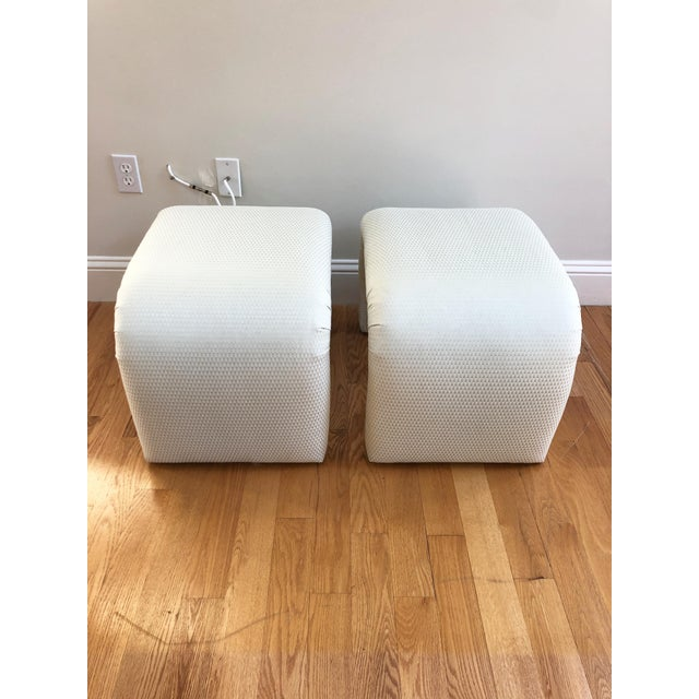 Milo Baughman Vintage Milo Baughman, Karl Springer Mid-Century Modern Waterfall Benches, a Pair For Sale - Image 4 of 8