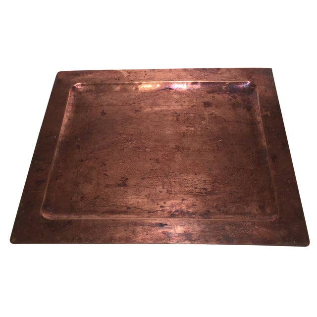 Arts and Crafts Handmade Copper Tray - Image 1 of 4