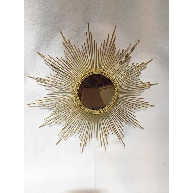 Art Deco Style Gold Starburst Mirror - Image 3 of 7