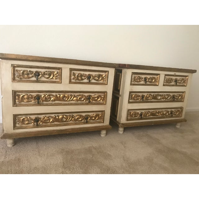 Mexico Polychrome Mirrored Cabinets - A Pair - Image 3 of 6