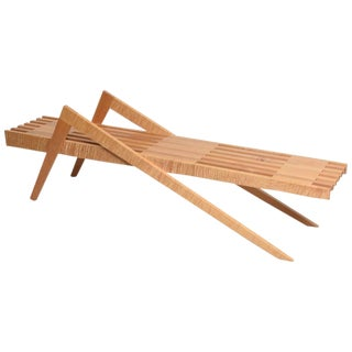 "Marc Phiffer Bespoke Wood ""Grasshopper"" Bench For Sale"