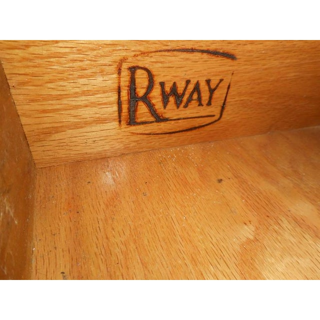 RWAY Mid-Century Modern Drop-Leaf Console Table For Sale - Image 10 of 11