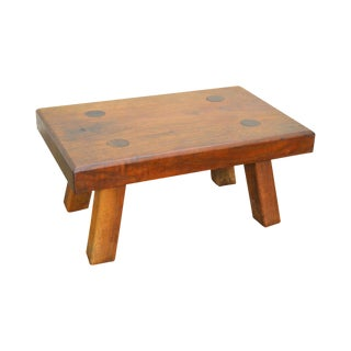 Studio Craftsman Arts & Crafts Style Solid Walnut Small Stool For Sale