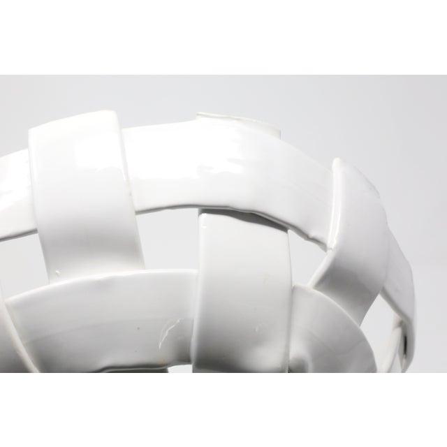 Ceramic Vintage Handmade Ceramic Basket For Sale - Image 7 of 11
