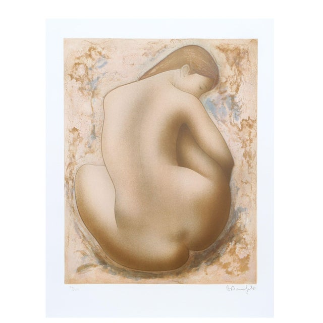 Alain Bonnefoit - Seated Nude Lithograph - Image 1 of 2