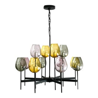 1960s Vintage 1960s Lightolier Goblet Chandelier For Sale