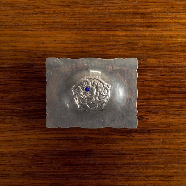 Danish Art Deco Silver Keepsake Box For Sale - Image 4 of 6