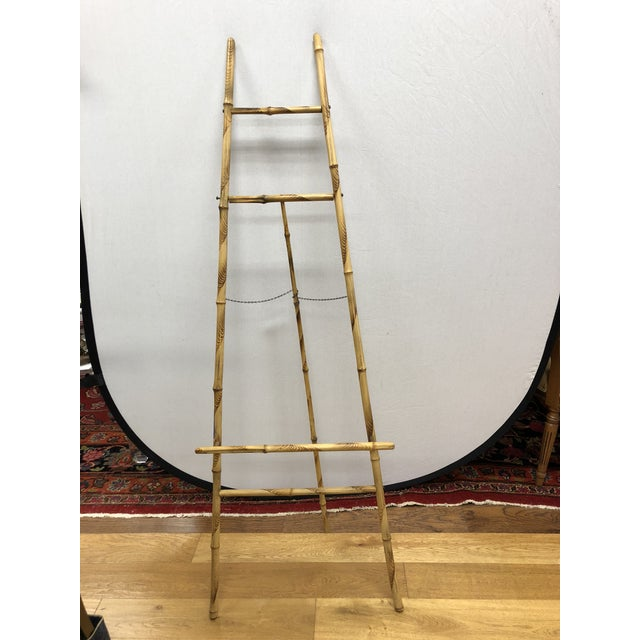 Brown 1920s Vintage Bamboo Floor Display Easel For Sale - Image 8 of 8