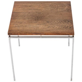 Mid-Century Modern Square Wood Side Table