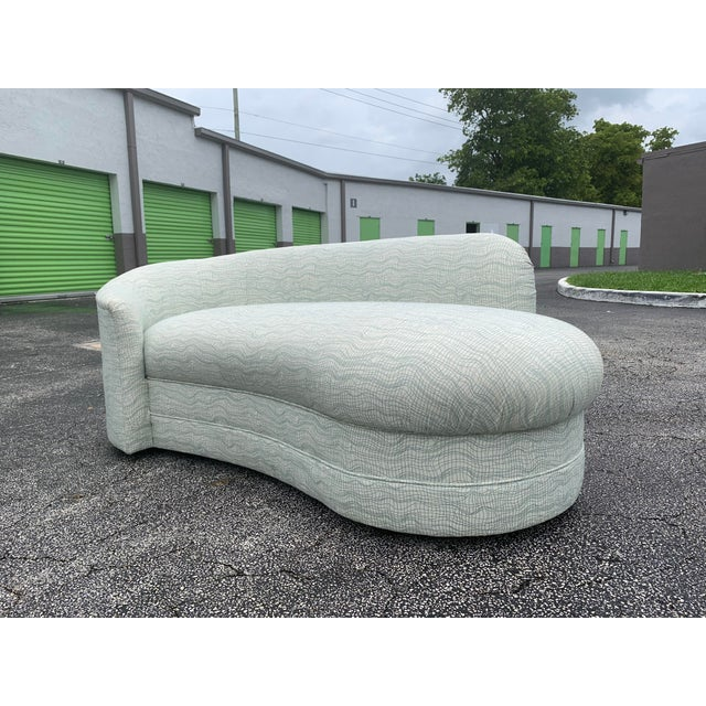 Textile Vladimir Kagan Style Petite Serpentine Cloid Sofa For Sale - Image 7 of 12