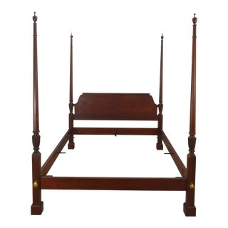 Chippendale Baker Queen Size Mahogany Poster Bedframe For Sale