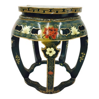 Vintage Asian Lacquered Side Table