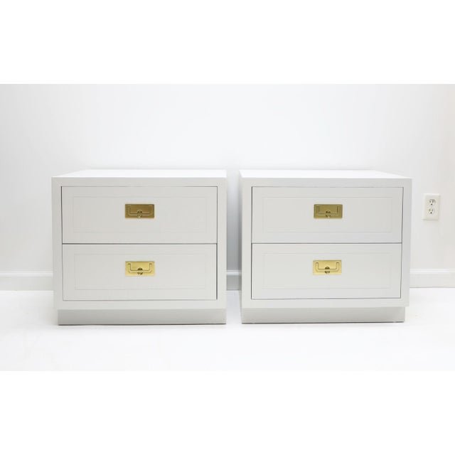1970s Henredon Campaign Nightstands - a Pair For Sale In New York - Image 6 of 6