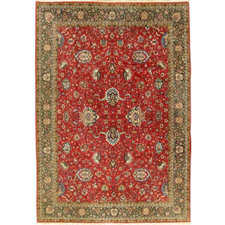 """Vintage Persian Tabriz Hand Woven Rug 8'2"""" X 11'6"""" For Sale"""