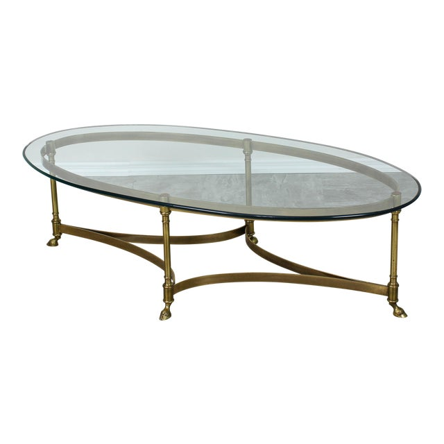 Mid Century Labarge Brass Coffee Table, Brass Coffee Table For Sale