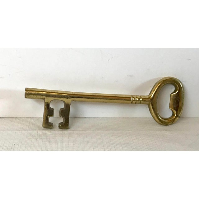 Vintage Brass Key Bottle Opener Paperweight For Sale - Image 4 of 7