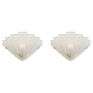 Pair of Italian Art Deco Murano Glass Sconces For Sale