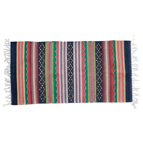 Mexican Pedal-Loom Striped Rug - 2′7″ × 4′10″ - Image 1 of 5