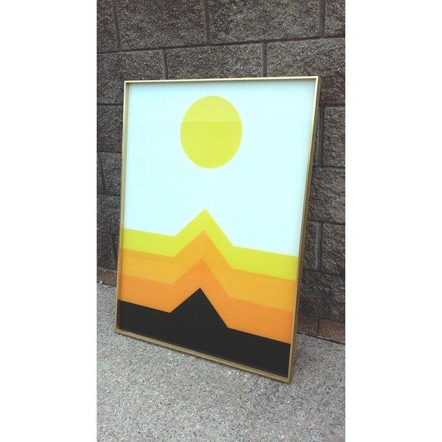 1970s OpArt Geometric Framed Print - Image 4 of 5