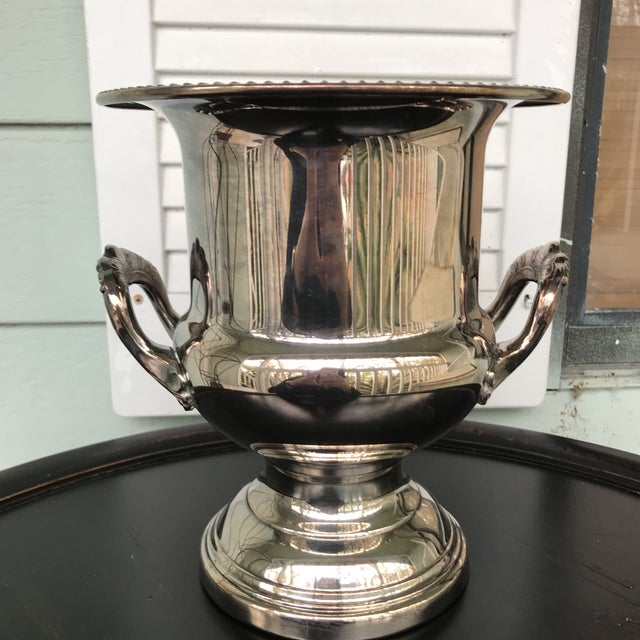 Silverplate Champagne Bucket For Sale - Image 4 of 7