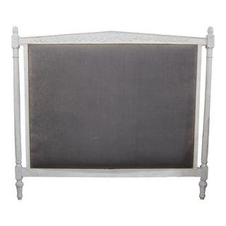 Vintage Upholstered Louis XVI Headboard For Sale