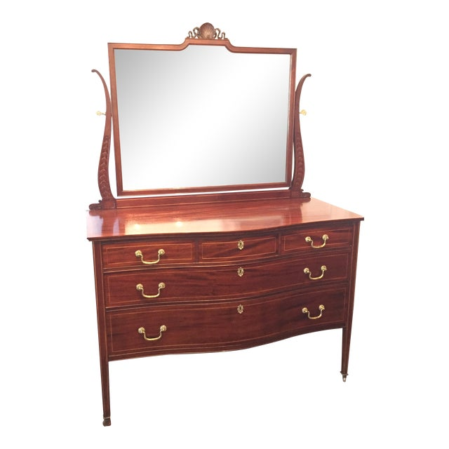 19th Century Flint NYC Empire Dresser With Mirror - Image 1 of 11