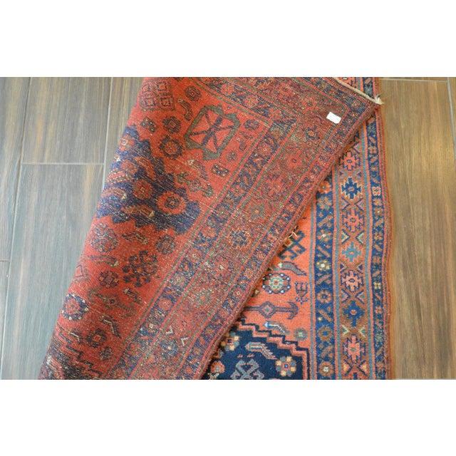 "Antique Persian Bidjar Long Rug - 4'5"" x 8'3"" - Image 9 of 9"