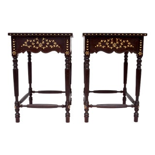 Late 19th Century Anglo-Indian Side Tables, Pair For Sale