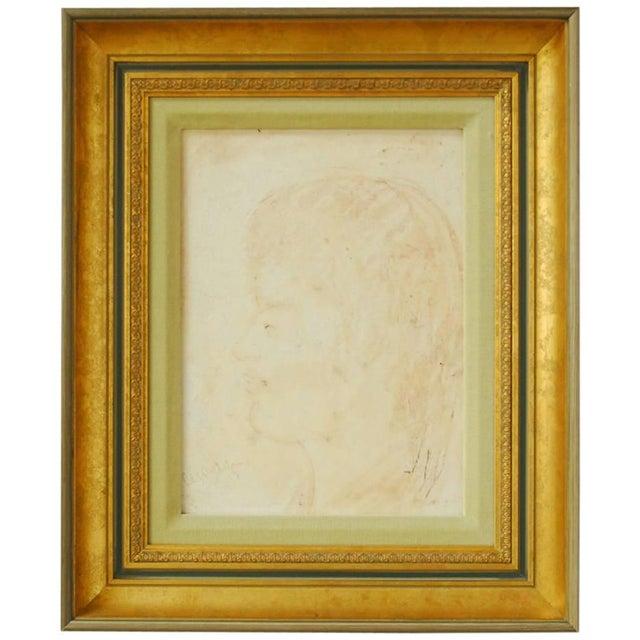 Pascal Cucaro Profile Portrait Oil on Board - Image 1 of 9
